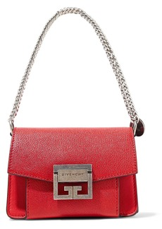 Givenchy Woman Gv3 Mini Pebbled-leather Shoulder Bag Red