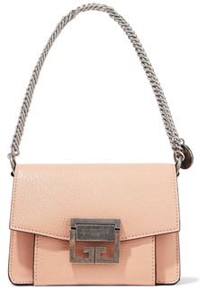 Givenchy Woman Gv3 Mini Pebbled-leather Shoulder Bag Blush