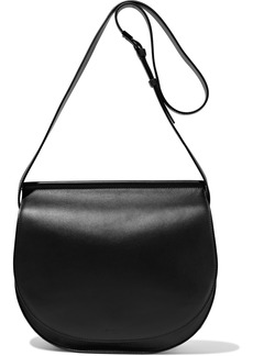 Givenchy Woman Infinity Chain-trimmed Leather Shoulder Bag Black