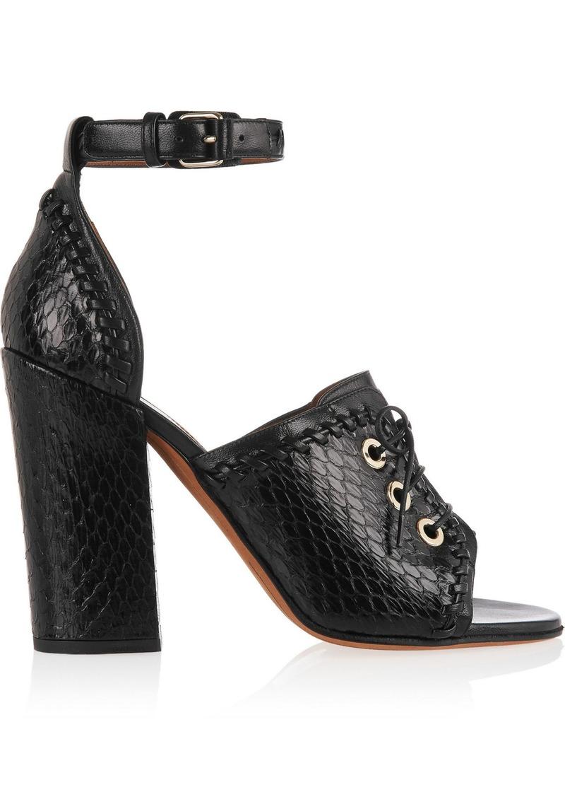 Givenchy Woman Nekka Elaphe And Leather Sandals Black