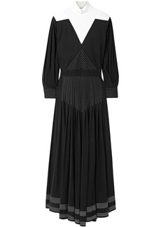 Givenchy Woman Open-back Two-tone Jersey Maxi Dress Black