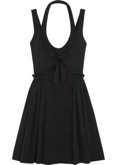Givenchy Woman Pleated Jacquard Mini Dress Black