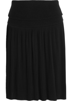 Givenchy Woman Pleated Jersey Mini Skirt Black