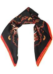Givenchy Woman Printed Silk-twill Scarf Black