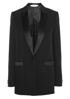 Givenchy Woman Satin-trimmed Wool Blazer Black
