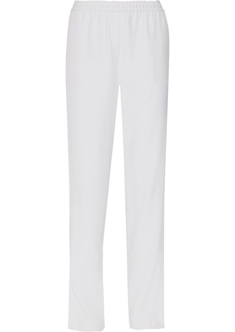 Givenchy Woman Silk-crepe Straight-leg Pants White