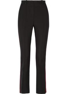 Givenchy Woman Skinny Pants In Black Grain De Poudre Wool Black