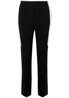 Givenchy Woman Striped Crepe Straight-leg Pants Black