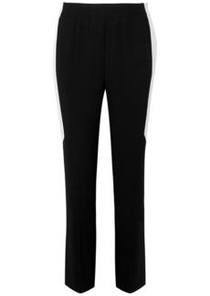 Givenchy Woman Striped Crepe Straight-leg Pants Black