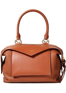 Givenchy Woman Sway Small Smooth And Pebbled-leather Tote Light Brown