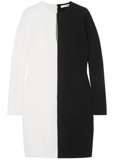 Givenchy Woman Two-tone Crepe Dress Black