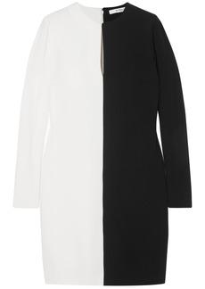 Givenchy Woman Two-tone Crepe Dress Black