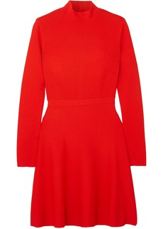Givenchy Woman Two-tone Stretch-crepe Mini Dress Red