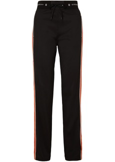 Givenchy Woman Velvet-trimmed Jersey Track Pants Black
