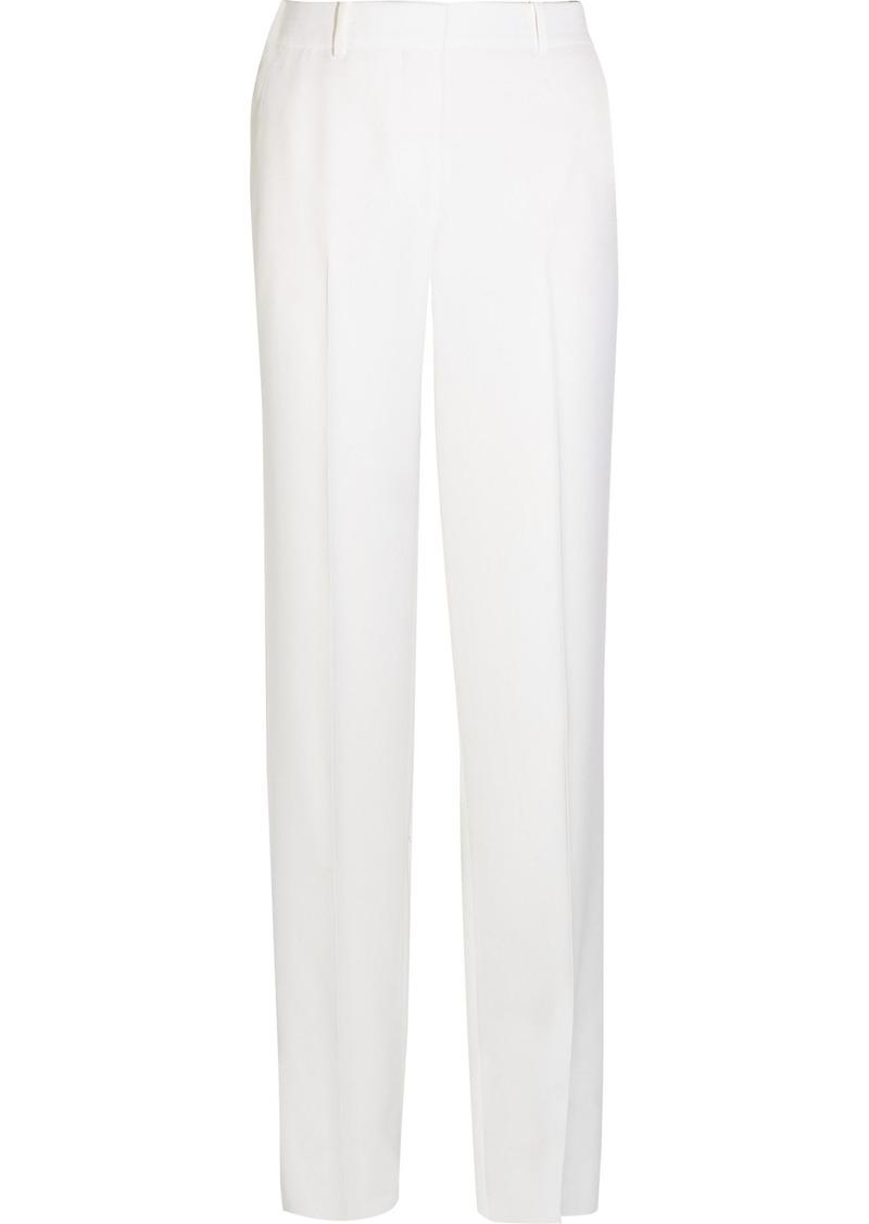 Givenchy Woman Wide-leg Tuxedo Pants In White Satin-crepe White