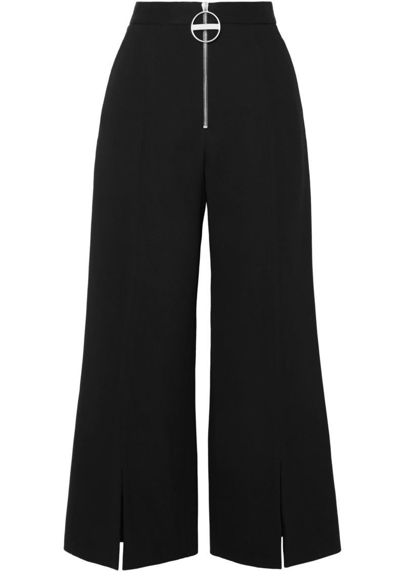 Givenchy Woman Wool-crepe Flared Pants Black