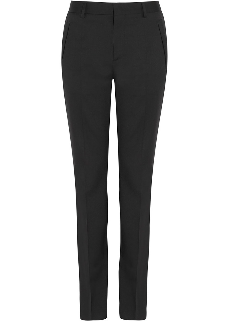 Givenchy Woman Wool-twill Slim-leg Pants Black