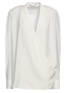 Givenchy Woman Wrap-effect Cady Top Ivory