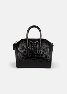 Givenchy Women's Antigona Mini Crocodile-Stamped Leather Duffel Bag - Black