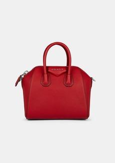 Givenchy Women's Antigona Mini Leather Duffel Bag - Red