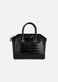Givenchy Women's Antigona Small Crocodile-Stamped Leather Duffel Bag - Black