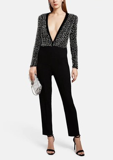 Givenchy Women's Beaded Silk-Wool Jumpsuit
