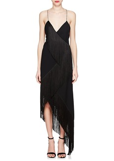 Givenchy Women's Cascading-Fringe Wool Cocktail Dress