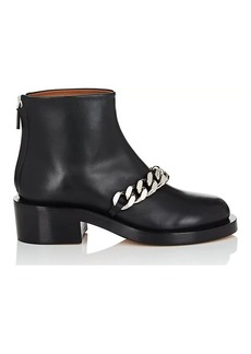 Givenchy Women's Chain-Embellished Leather Ankle Boots