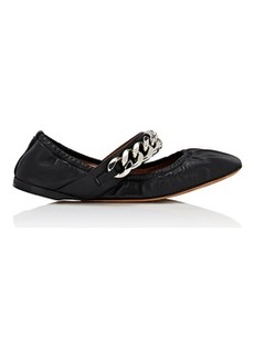 Givenchy Women's Chain-Strap Leather Flats