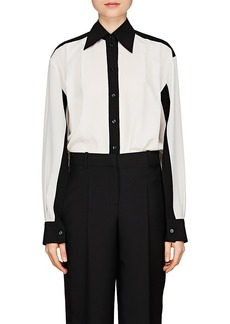 Givenchy Women's Colorblocked Silk Blouse