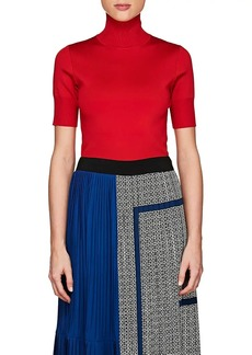 Givenchy Women's Compact Knit Short-Sleeve Turtleneck Top
