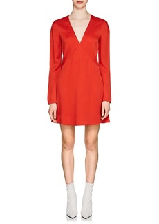 Givenchy Women's Crepe-Back Satin V-Neck Dress