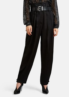 Givenchy Women's Crepe Carrot-Leg Trousers