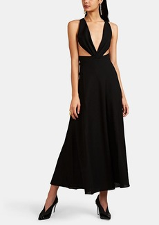 Givenchy Women's Crepe Plunging-Neckline Gown