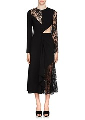 Givenchy Women's Cutout Mixed-Media Dress