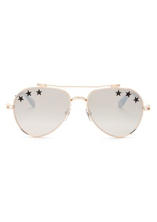 Givenchy Women's Embellished Mirrored Brow Bar Aviator Sunglasses, 58mm