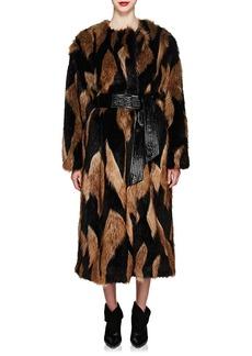 Givenchy Women's Faux-Fur Long Coat