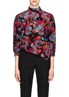 Givenchy Women's Fire Flower-Print Silk Top