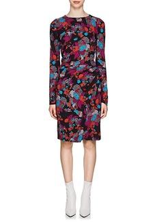 Givenchy Women's Fire Flower-Print Wrap Dress
