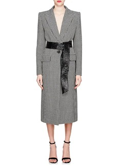 Givenchy Women's Houndstooth Wool One-Button Coat