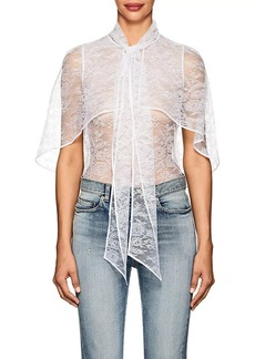 Givenchy Women's Lace Cape Blouse