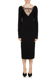 Givenchy Women's Lace-Inset Compact Knit Dress