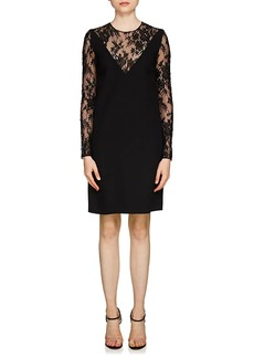 Givenchy Women's Lace-Inset Wool Dress