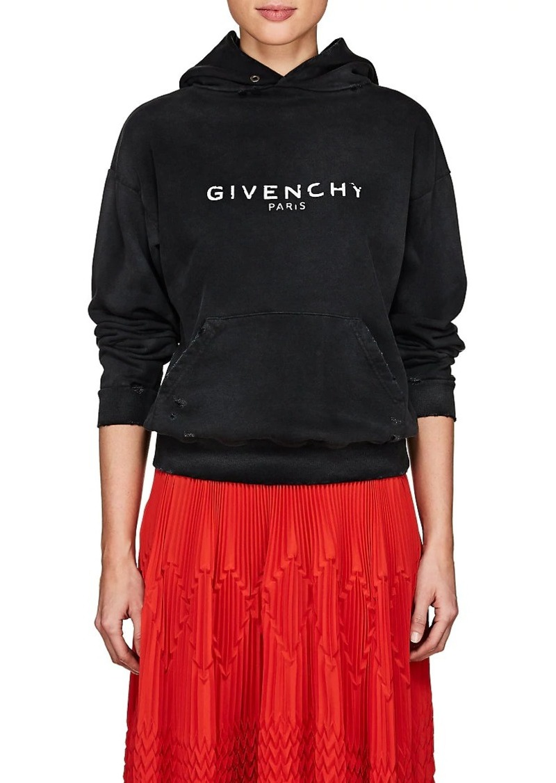 79ff09de2a0b Givenchy Givenchy Women s Logo Distressed Cotton Terry Hoodie ...