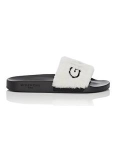 Givenchy Women's Logo Shearling Slide Sandals