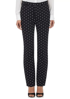 Givenchy Women's Micro Cross-Print Cady Trousers