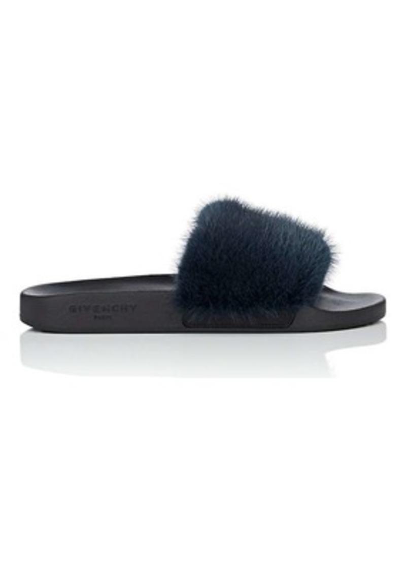 983b8ce6e66 Givenchy Women s Mink Fur Slide Sandals