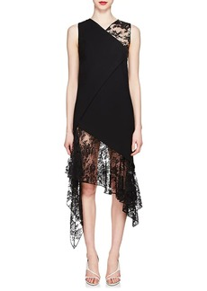 Givenchy Women's Mixed-Media Wool Midi-Dress