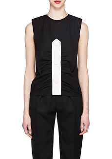 Givenchy Women's Oversized-Placket Wool Top