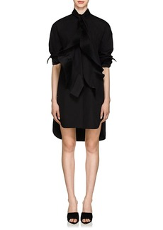 Givenchy Women's Pleated Cotton Oversized Tieneck Shirtdress